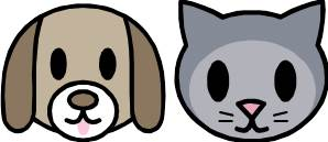 Dog and Cat Headshot