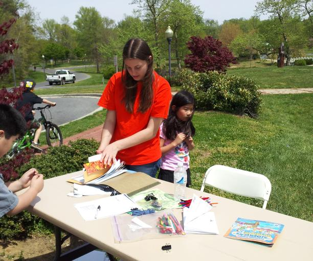 Volunteers at Quiet Waters Park Earth Day Festival