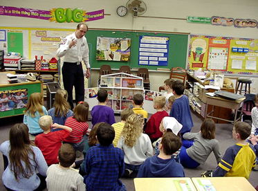 Image: Fire Department Speaking to Class