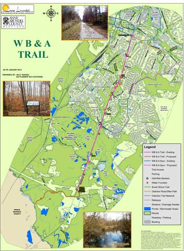 Anne Arundel County Trails Map