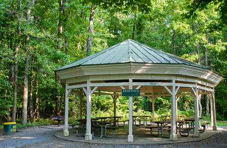 Outdoor Pavilion at Quiet Waters Park