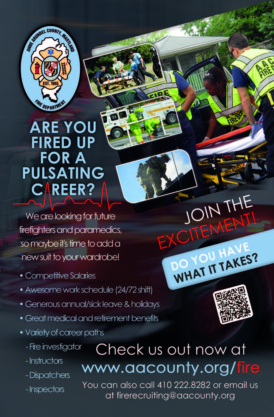 Fire Department Careers | Anne Arundel County, MD
