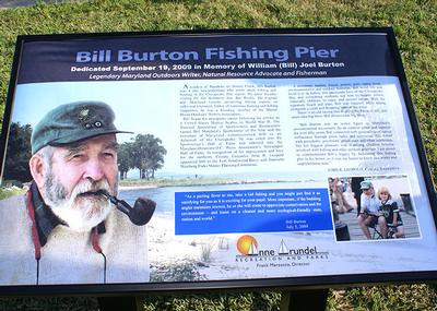 Bill Burton Fishing Pier Sign