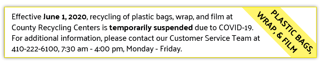 Plastic Bag Recycling Program Suspension