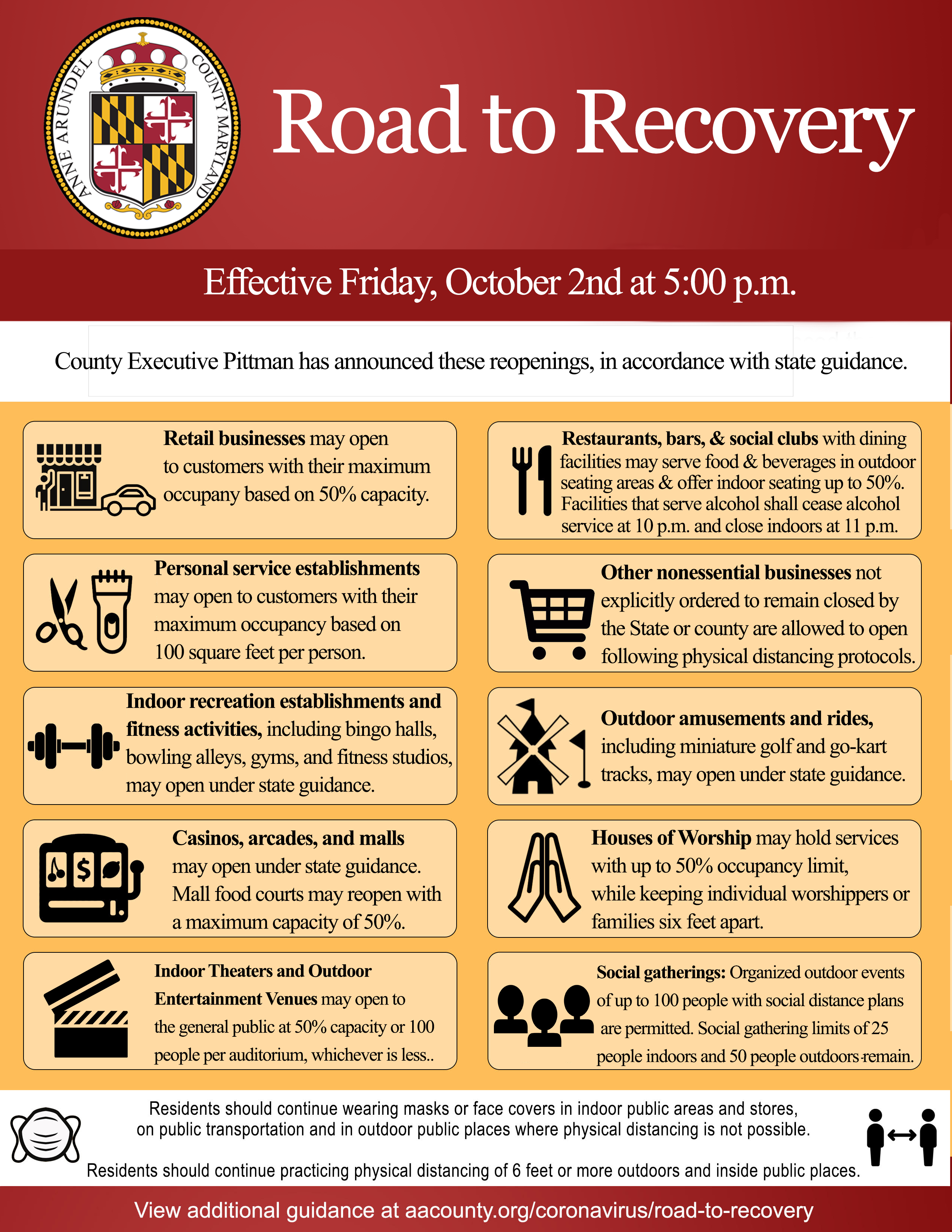 maryland roadmap to recovery