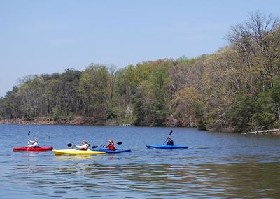 Kayaking at Quiet Waters Park